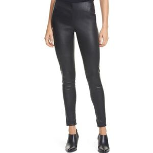 Ralph Lauren Black Leather Legging Pants NWT